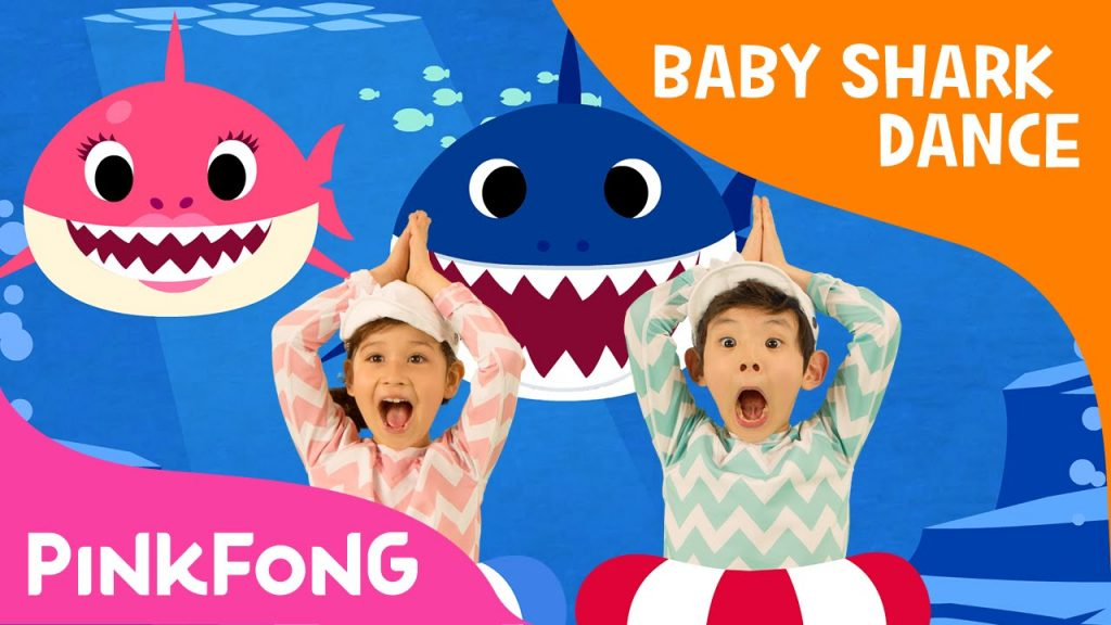 baby shark dance youtuben katsotuin video